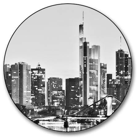 leinwand bild frankfurt skyline schwarzwei wasser spiegelung bilder st dte xxl ebay. Black Bedroom Furniture Sets. Home Design Ideas