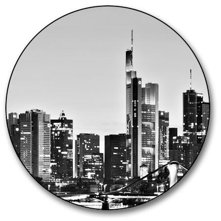 leinwand bild frankfurt skyline schwarzwei wasser rhein main st dte deutschland. Black Bedroom Furniture Sets. Home Design Ideas