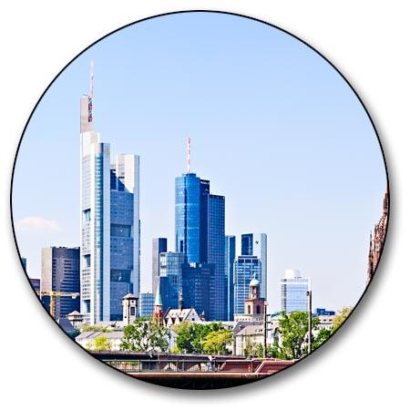 leinwand bild frankfurt skyline panorama alte br cke altstadt st dte bilder xxl ebay. Black Bedroom Furniture Sets. Home Design Ideas