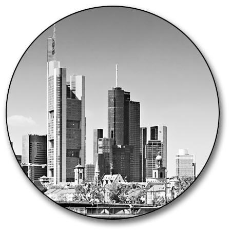leinwand bild frankfurt skyline schwarzwei alte br cke dom st dte bilder kunst ebay. Black Bedroom Furniture Sets. Home Design Ideas