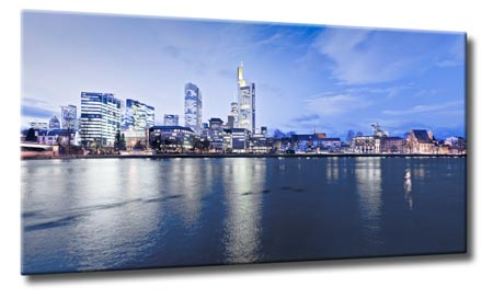 leinwand kunst bild frankfurt nacht skyline main nacht ebay. Black Bedroom Furniture Sets. Home Design Ideas