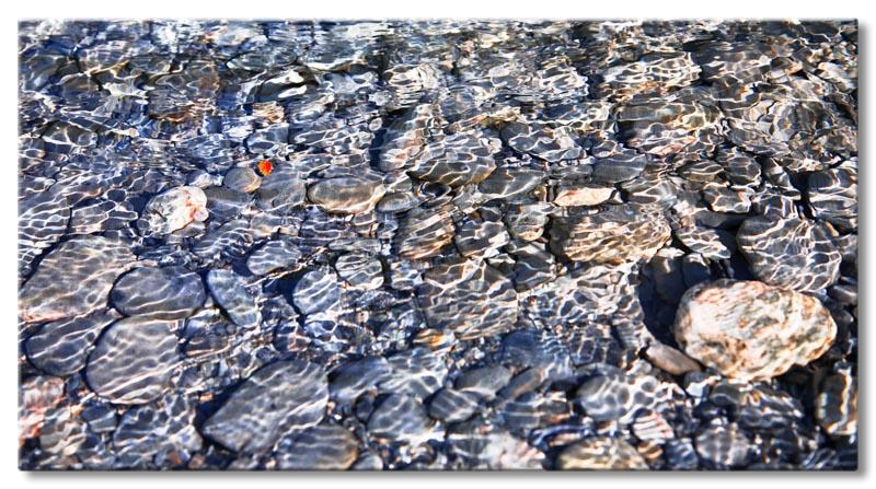 Leinwand bild abstrakt natur stein wasser blau rot xxl