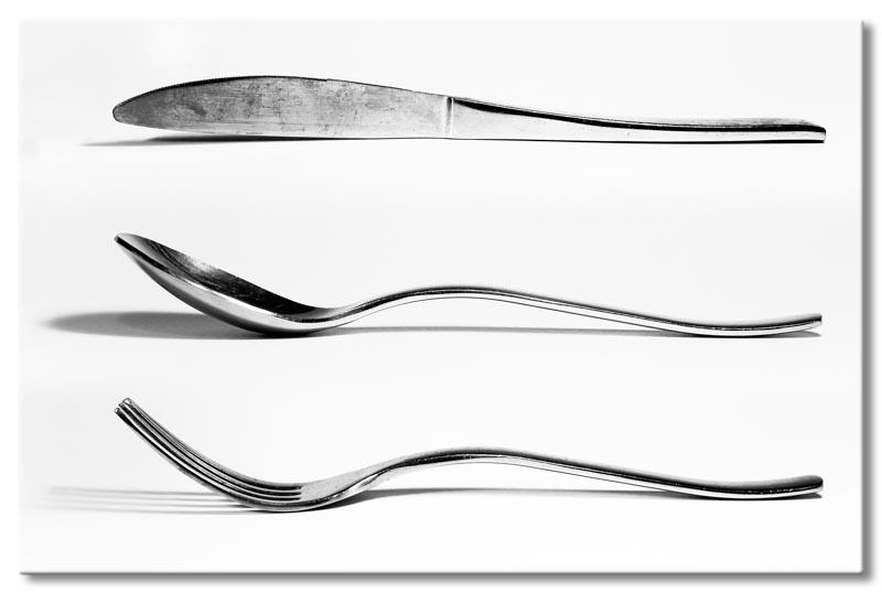 Leinwand Bild Besteck Messer Gabel Löffel Kochen Lounge eBay