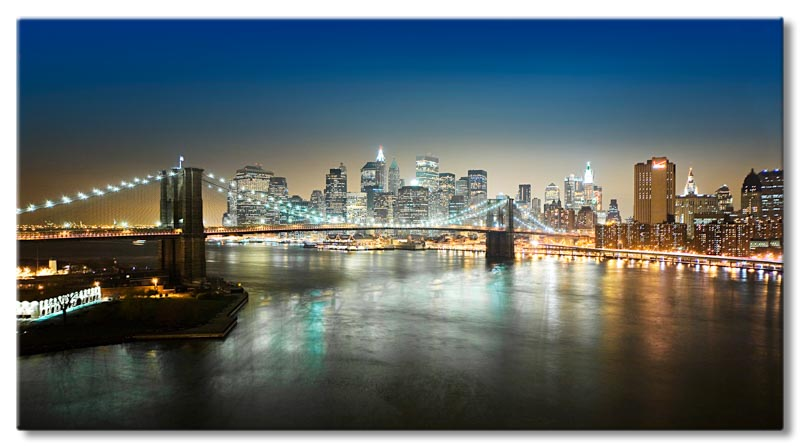 leinwand bild new york manhattan brooklyn bridge usa ny ebay. Black Bedroom Furniture Sets. Home Design Ideas