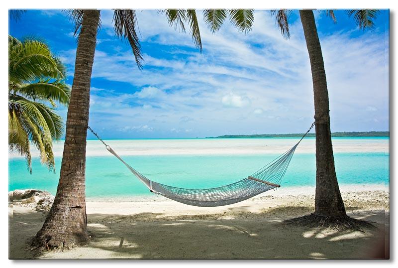 Bild auf Leinwand Relax Karibik Südsee Strand XXL Poster Leinwandbild Wandbild