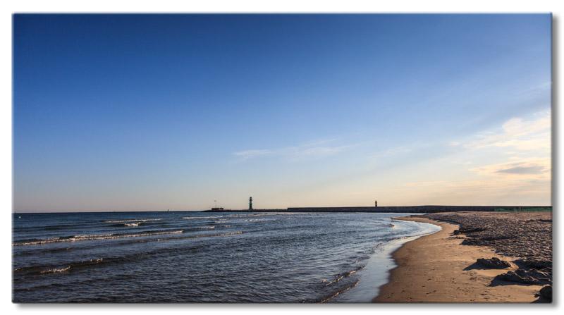 Leinwand bild leinwand bild ostsee warnem nde strand for Urlaub ostsee warnemunde